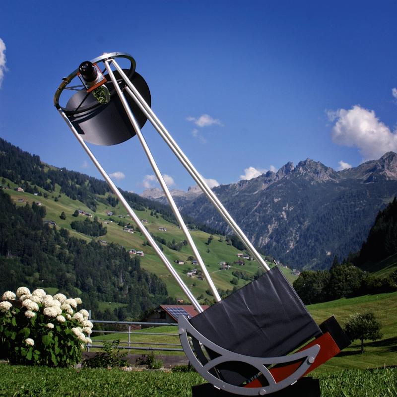 """Hofheim Instruments 12"""" Reisedobson aufgebaut in den österreichischen Alpen."""